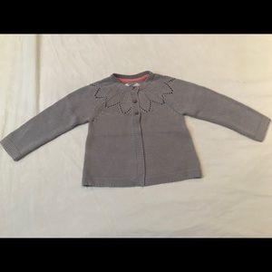 Mini Boden Gray Sweater Cardigan NWT 12-18M 18-24M